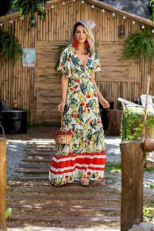Vestido estampado maravilhoso