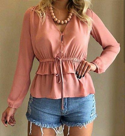 Camisa babadinhos - Rosa