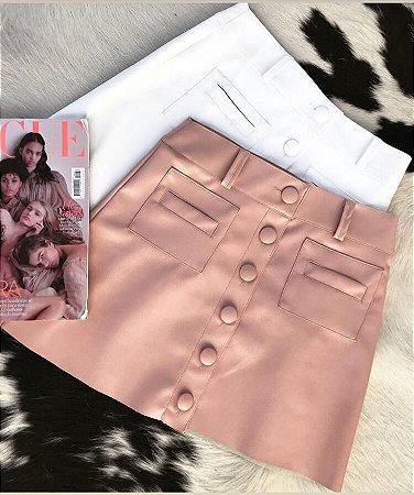 f18db3c216d Saia botões couro eco - rosa - Madame Ninna