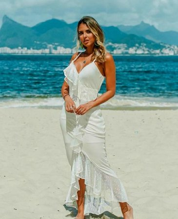 Vestido longo all white lindo