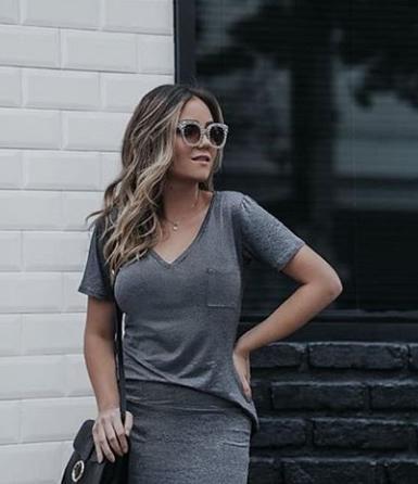 T-shirt Basikete com bolsinho - Cinza escuro