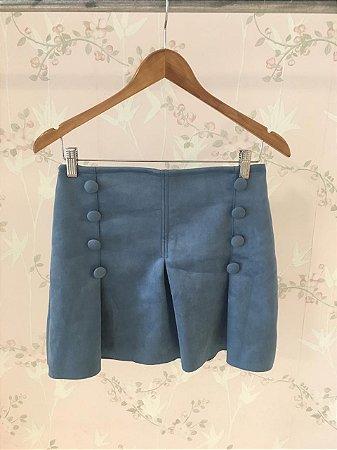 9911cd3be Mini saia Scuba com detalhe de botões - azul - Madame Ninna