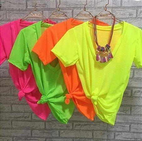 T-shirt podrinha - Amarelo limão Neon