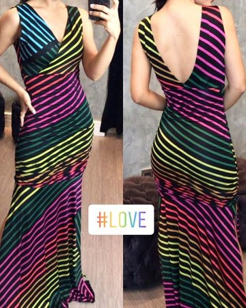 Vestido longo Rainbow