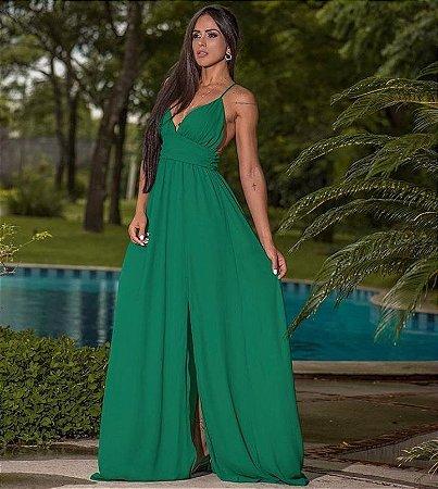 Vestido glam new crepe - Verde esmeralda
