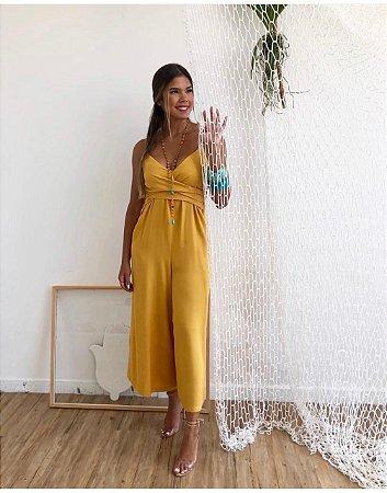 d18574722 Macacão pantacourt em New crepe - Amarelo - Madame Ninna