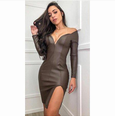 Vestido em couro eco - Raquel