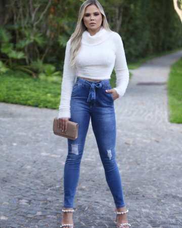 Calça jeans cintura alta - Talita