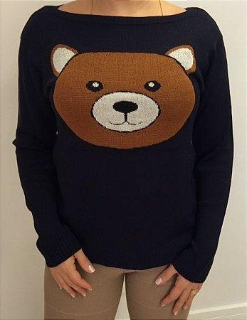 Tricot preto urso Ted grande (Moschino inspired)
