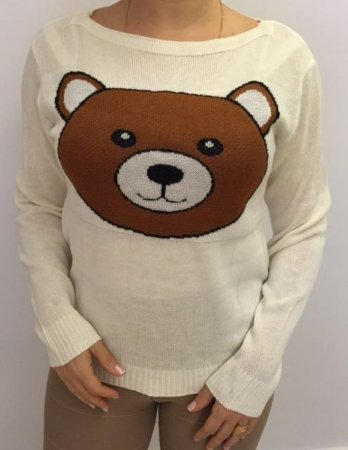 Tricot off white urso Ted grande (Moschino inspired)