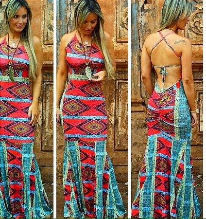 Vestido estampa mega moderna verão 2016