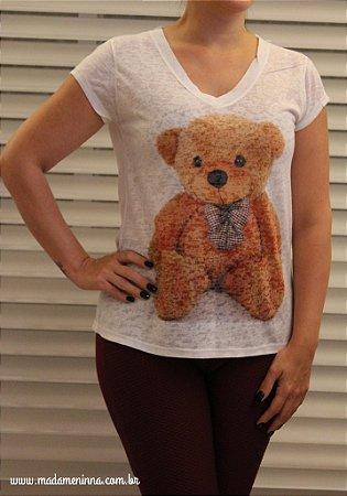 Tshirt em malha flamê do Urso Ted