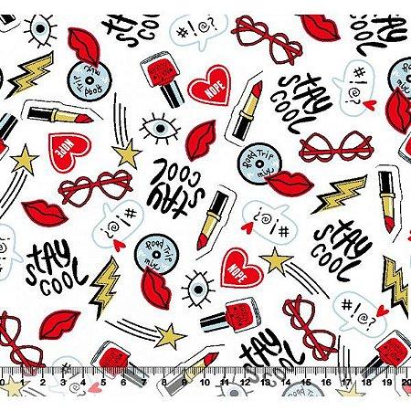 Maquiagem E Acessorios Desenho 2988 01 Tricoline 100 Algodao 0