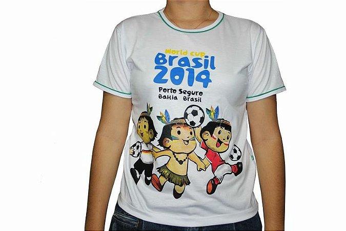 Camiseta 3 Mascotes - Branca