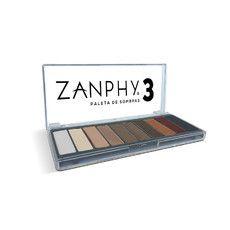 Zanphy Paleta de Sombras 03  Opaca 10 cores
