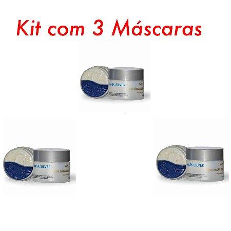 Kit com 3 MáscaraS Silver Protect 210g cada