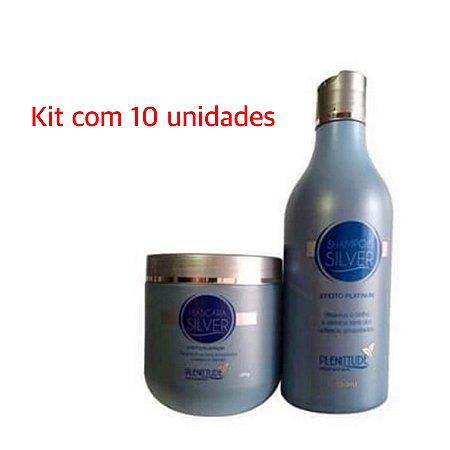 PLENITTUDE 10 UNIDADES DE KIT SILVER (Shampoo e Máscara)