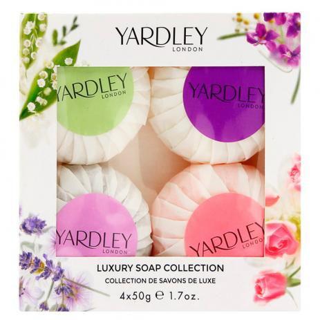 KIT YARDLEY LONDON LUXURY SOAP COLLECTION - SABONETES EM BARRA 4X50G CADA
