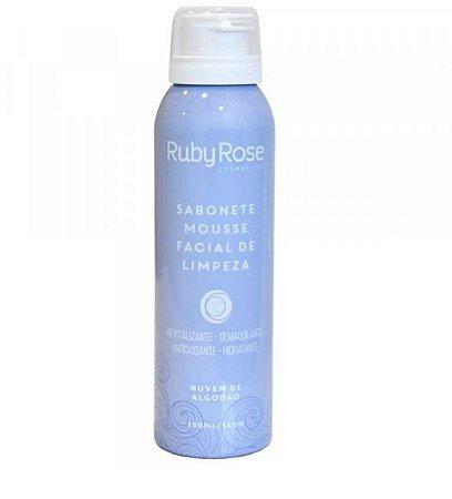 Sabonete Mousse Facial de Limpeza - Nuvem de Algodão - Ruby Rose 150ML