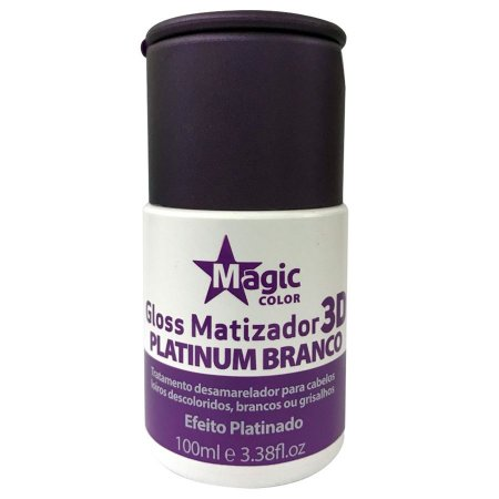 Magic Color Gloss Matizador 3D Platinum Branco Efeito Platinado - 100ml