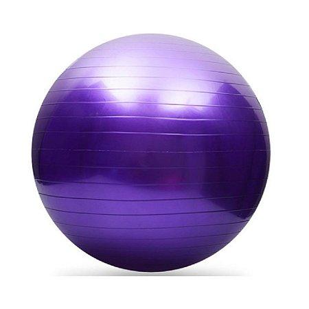ced8a8ebed Bola de Pilates Suíça Fitball 65cm Roxa Lilás com Bomba - Aikau ...