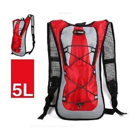 Mochila Esportiva de Hidratação com Compartimento de Água - Vermelha 63a4f110d8e96