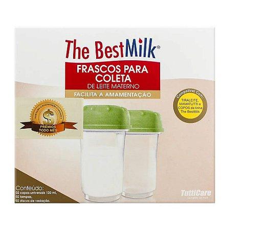 Frascos Plásticos para Coleta de Leite Materno com 2 unidades The BestMilk
