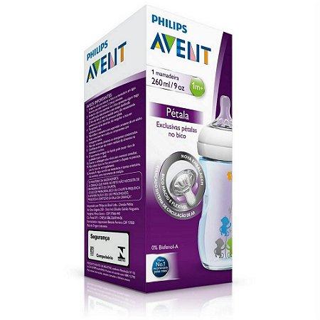 Mamadeira Linha Pétala Azul 260Ml - Philips Avent