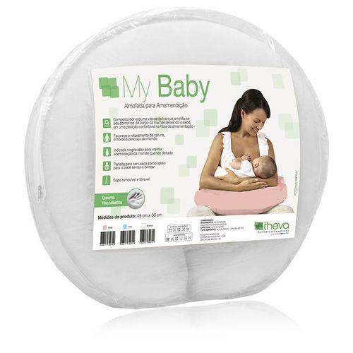 Almofada de Amamentação Viscoelástica Branca - My Baby