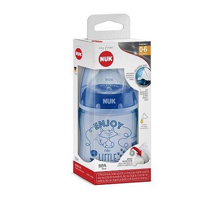 Mamadeira Nuk My1st - 150ml (0 - 6 meses) - Azul