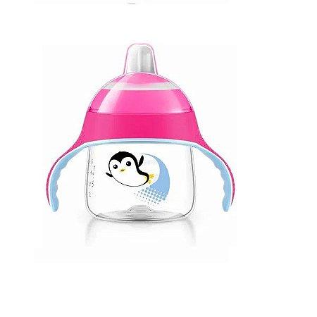 Copo Pinguim 200 ml - Rosa - Philips Avent
