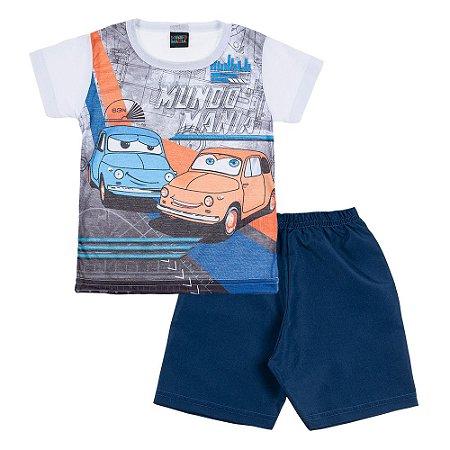 Conjunto Infantil Masculino Carro Mundo Mania