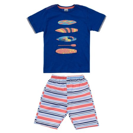 Conjunto Infantil Masculino Surf Azul Didiene
