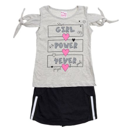Conjunto Infantil Feminino Power Mescla For Girl