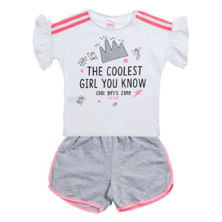 Conjunto Infantil Feminino Fun Girls Branco For Girl