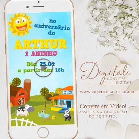 Convite Animado Bita Fazendinha em Vídeo