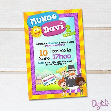 Convite Mundo Bita - Arte Digital