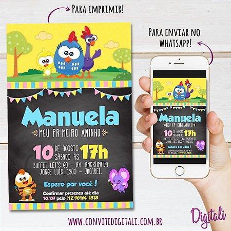 Convite Galinha Pintadinha Mini Chalkboard - Arte Digital