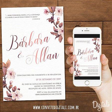 Convite Flor Cerejeira - Arte Digital