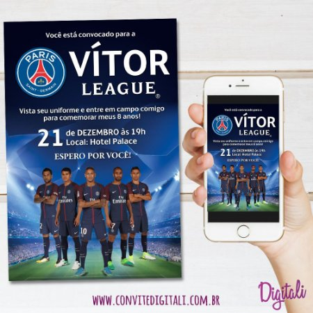 Convite PSG Paris Saint Germain - Arte Digital