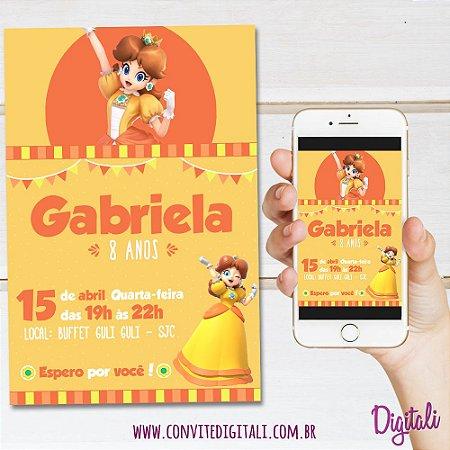 Convite Princesa Daisy - Arte Digital