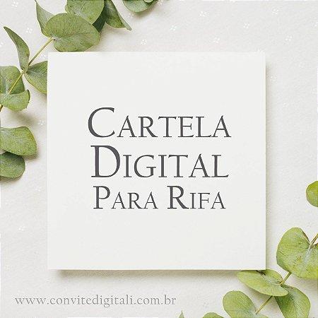 Convite Cartela Digital para Rifa
