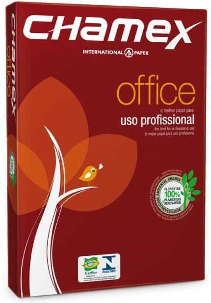 Papel Sulfite 75g Alcalino 210x297 A4 Chamex Office PCT 500 FL
