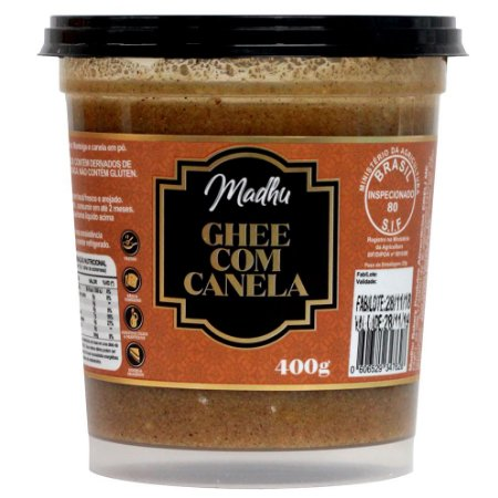 Ghee com Canela 400g | Madhu Ghee