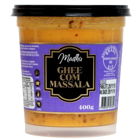 Ghee com Massala 400g | Madhu Ghee