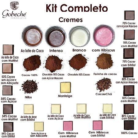 Kit  Degustação Completo  Gobeche - 19 chocolates, 4 Cremes, mais 7 produtos