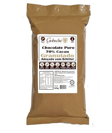Chocolate Gobeche Puro 70% Cacau Granulado Adoçado com Eritritol- 1kg