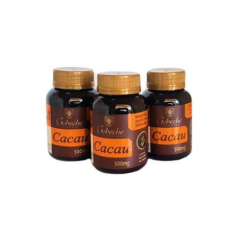 Cápsulas de Cacau Gobeche- Kit com 3 potes de 60 cápsulas