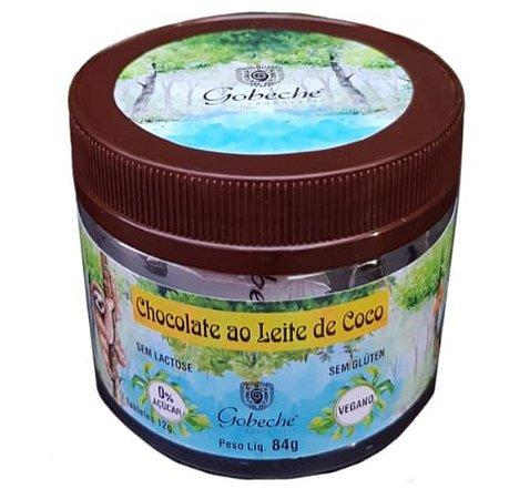 Chocolate ao Leite de Coco /Vegano/Zero Açúcar- Embalagem c/ 7 tabletes 12g