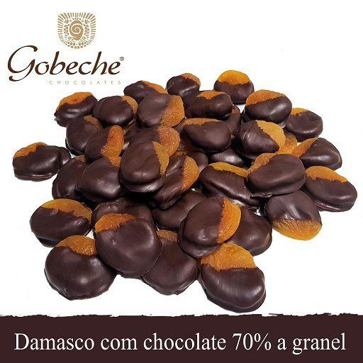 Damasco Com Chocolate 70% Cacau Vegano/Sem Leite- Emb. 1,00 Kg